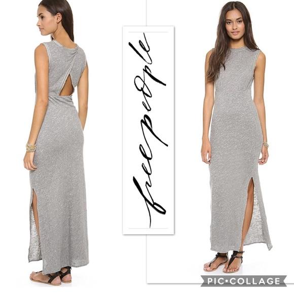 Free People Dresses & Skirts - NWT Free People Sabrina maxi dress in grey heather